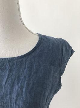 Jurk-linnen-jeans blauwe washing