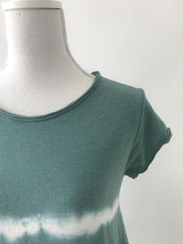 Jurk tie-dye - groen/blauw