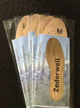 Zederwell- Schuheinlagen, 5 Paar