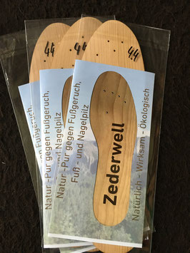 Zederwell- Schuheinlagen, 3 Paar