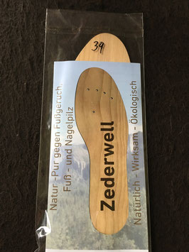 Zederwell- Schuheinlagen, 1 Paar