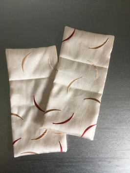 Augenkissen-Hülle Streifen 2x an Lager