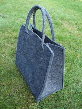 Handtasche, Einkaufstasche aus grauem Filz