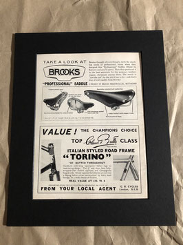 Original 1960s Card Mounted Brooks/Torino Printed Advertisements...