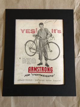 1960s Armstrong Cycles Original Card Mounted Printed Advertisement...