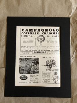 Original 1960s Card Mounted Printed Advertisements...