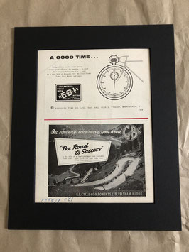 Original 1960s Reynolds/GB Card Mounted Advertisement...