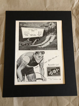 Original 1960s Card Mounted Reynolds/GB Printed Advertisements...
