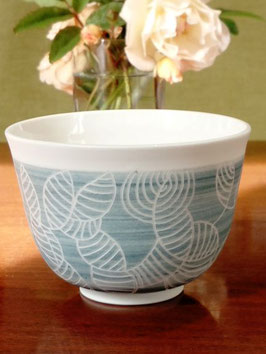 Asnières, bol porcelaine artisanal 110ml