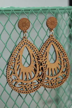 Holz Orient Ohrringe