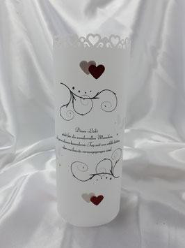 Gedenklicht Lichthülle zur Hochzeit Trauer