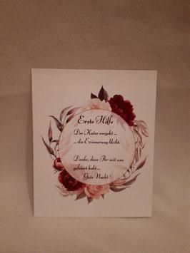 Erste Hilfe - Karte Hochzeit
