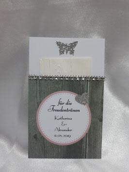 Freudentränen-Tasche in Holz-Optik inkl. mit Holz-Muster geprägtem Taschentuch
