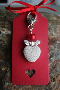 Lava Perlen Geschenkanhänger Heart (1R)