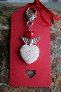 Lava Perlen Geschenkanhänger Double Heart (2R)