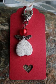 Lava Perlen Geschenkanhänger Heart up II (4R)