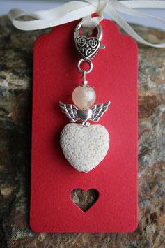 Lava Perlen Geschenkanhänger Creme Heart (8R)