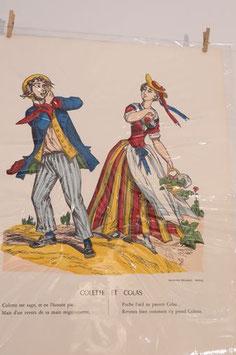 """Véritable image d'Epinal """" Colette et Colas"""""""