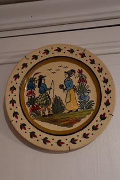 """Assiette décorative véritable  """" Quimper"""""""