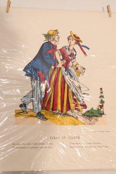 """Véritable image d'Epinal """" Colas et Colette"""""""
