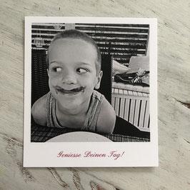 """Fotokarte """"Geniesse Deinen Tag!"""""""