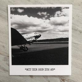 """Fotokarte """"MIT DIR HEB ICH AB"""""""