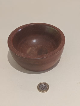 37. Small, but lovely highly-polished Hardwood hand-turned bowl.
