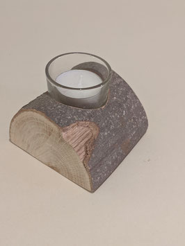 9. Natural 'Yule Log' Candle holder.