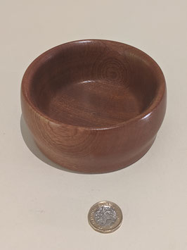 35. Darkwood hand turned bowl.