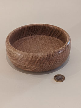 134. Shallow hand turned bowl.