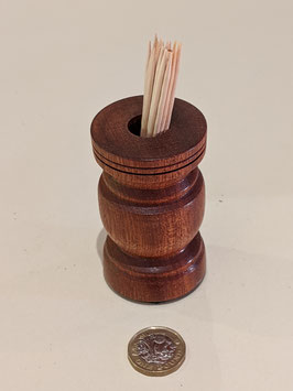 111. Lovely Hardwood toothpick holder.