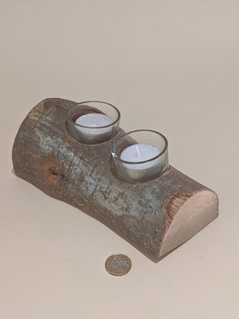38.Double 'Yule Log' tealight holder.