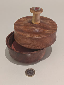 25.  Wooden keepsake box with lid.