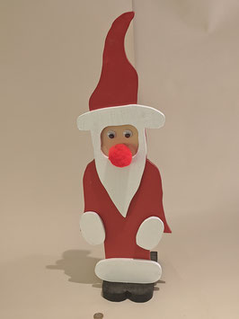 61. Hand Made painted wooden Santa