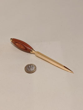 122. Hardwood and gilt letter opener.