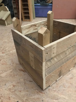 173. Hand made wooden garden or patio planter
