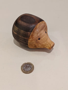 107. Cute wooden hedgehog