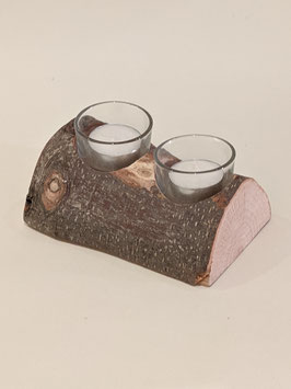 100. Double 'Yule Log' decorative tealight holder.