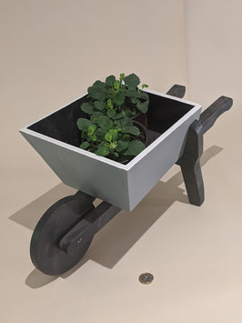75. Painted wood 'Wheelbarrow' planter