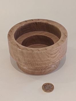 131. Wooden truned bowl/Pillar candle holder.
