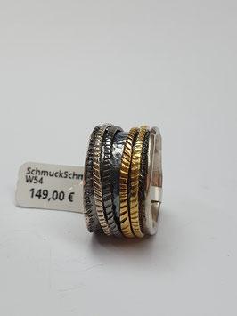 Ring Silber 925/- mit beweglichen Drehringen