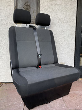 VW T5 Beifahrer-Doppelsitzbank AUSTIN Dunkelgrau