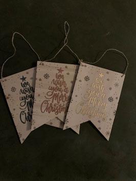 Houten kerstbanner