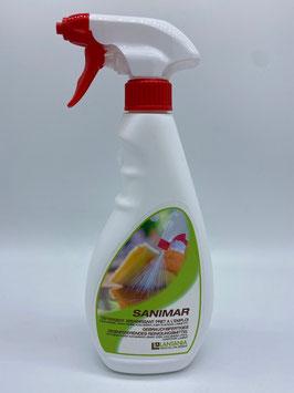 SANIMAR - Gebrauchsfertiges desinfizierendes Reinigungsmittel in Sprühflasche