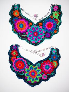 Flower power, bunte Halskette (5) aus Mexiko
