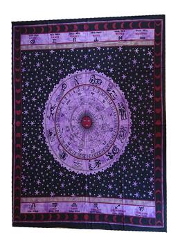 Tenture Horoscope violet