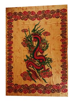 Tenture dragon jaune