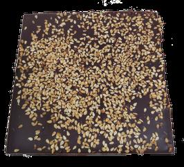 Tablette chocolat noir - Sésame caramélisé