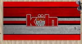 Köln Stadtname und Wappen Strandtuch