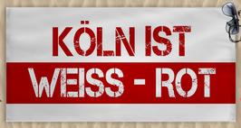 Köln ist weiss rot Strandtuch
